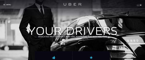 Drivers at Uber